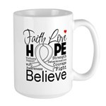 Faith Hope Mesothelioma Large Mug