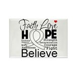 Faith Hope Mesothelioma Rectangle Magnet