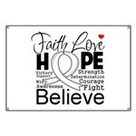 Faith Hope Mesothelioma Banner