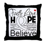 Faith Hope Mesothelioma Throw Pillow