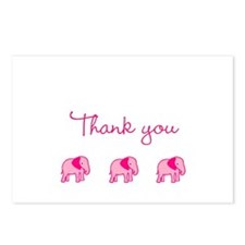 Pink Elephant Thank You Postcards (Package of 8)