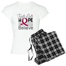 Faith Hope Multiple Myeloma Pajamas