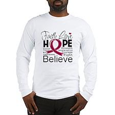 Faith Hope Multiple Myeloma Long Sleeve T-Shirt