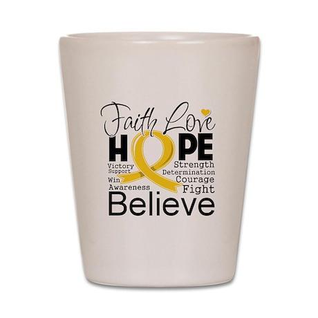 Faith Hope Neuroblastoma Shot Glass