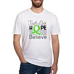 Faith Non-Hodgkins Lymphoma Fitted T-Shirt