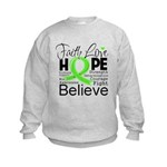 Faith Non-Hodgkins Lymphoma Kids Sweatshirt