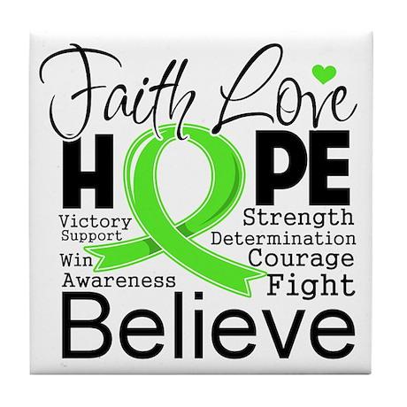 Faith Non-Hodgkins Lymphoma Tile Coaster