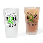 Faith Non-Hodgkins Lymphoma Drinking Glass