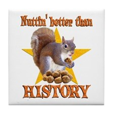 History Squirrel Tile Coaster