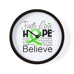 Faith Non-Hodgkins Lymphoma Wall Clock