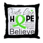 Faith Non-Hodgkins Lymphoma Throw Pillow