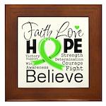 Faith Non-Hodgkins Lymphoma Framed Tile