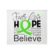 Faith Non-Hodgkins Lymphoma Throw Blanket