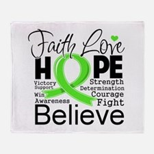 Faith Non-Hodgkins Lymphoma Throw Blanket
