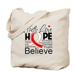 Faith Hope Oral Cancer Tote Bag