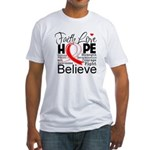 Faith Hope Oral Cancer Fitted T-Shirt