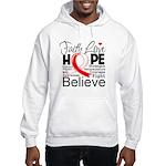 Faith Hope Oral Cancer Hooded Sweatshirt