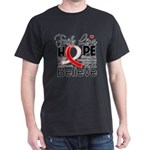Faith Hope Oral Cancer Dark T-Shirt