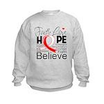 Faith Hope Oral Cancer Kids Sweatshirt