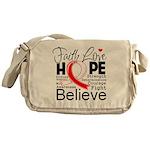Faith Hope Oral Cancer Messenger Bag