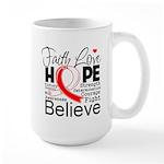 Faith Hope Oral Cancer Large Mug