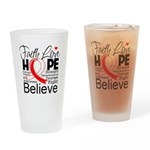 Faith Hope Oral Cancer Drinking Glass
