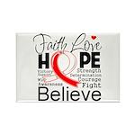 Faith Hope Oral Cancer Rectangle Magnet