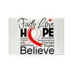 Faith Hope Oral Cancer Rectangle Magnet (10 pack)