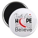 Faith Hope Oral Cancer Magnet