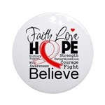 Faith Hope Oral Cancer Ornament (Round)