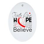Faith Hope Oral Cancer Ornament (Oval)