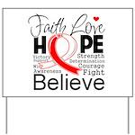 Faith Hope Oral Cancer Yard Sign