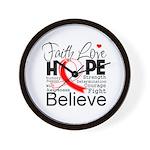 Faith Hope Oral Cancer Wall Clock