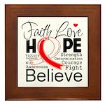 Faith Hope Oral Cancer Framed Tile