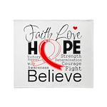 Faith Hope Oral Cancer Throw Blanket