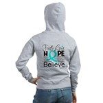Faith Hope Ovarian Cancer Women's Zip Hoodie
