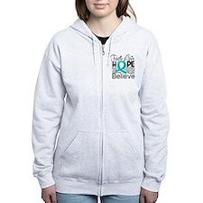 Faith Hope Ovarian Cancer Zip Hoodie