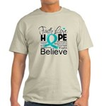 Faith Hope Ovarian Cancer Light T-Shirt