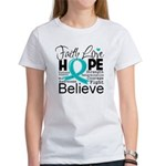 Faith Hope Ovarian Cancer Women's T-Shirt