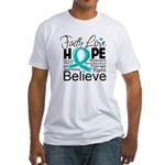 Faith Hope Ovarian Cancer Fitted T-Shirt