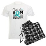 Faith Hope Ovarian Cancer Men's Light Pajamas
