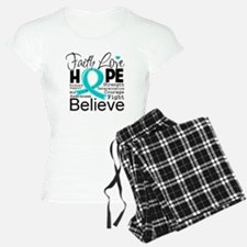 Faith Hope Ovarian Cancer Pajamas