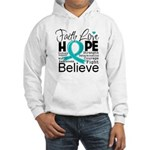Faith Hope Ovarian Cancer Hooded Sweatshirt