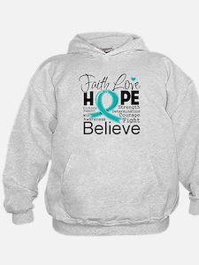 Faith Hope Ovarian Cancer Hoodie