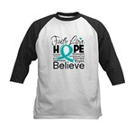 Faith Hope Ovarian Cancer Kids Baseball Jersey