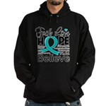 Faith Hope Ovarian Cancer Hoodie (dark)