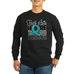 Faith Hope Ovarian Cancer Long Sleeve Dark T-Shirt