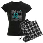 Faith Hope Ovarian Cancer Women's Dark Pajamas