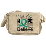 Faith Hope Ovarian Cancer Messenger Bag