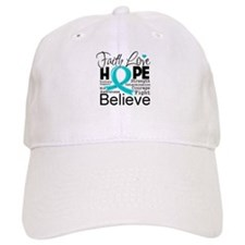 Faith Hope Ovarian Cancer Baseball Cap